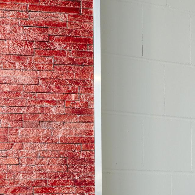 Fliese als Dekoelement an der Wand